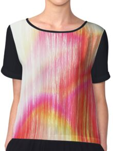 Tropical Abstract Chiffon Top