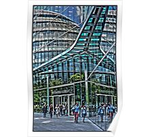 Urban Reflections by Tim Constable Poster