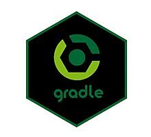 gradle programming language hexagon sticker Photographic Print