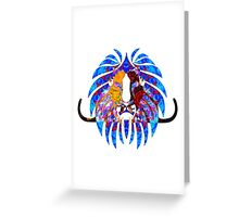 Kissing On A Tropical Evening Greeting Card