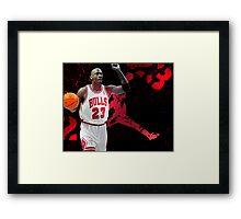 Jordan in Carmine Framed Print