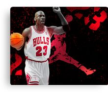 Jordan in Carmine Canvas Print