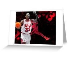 Jordan in Carmine Greeting Card
