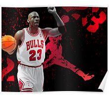 Jordan in Carmine Poster