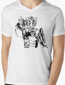 Cyberman Mens V-Neck T-Shirt