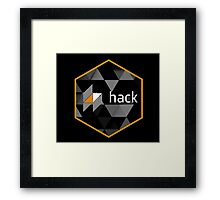 hack programming language hexagon sticker Framed Print