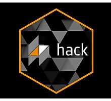 hack programming language hexagon sticker Photographic Print