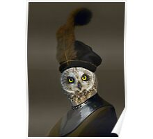 The Owl General - Photographic Composite Poster