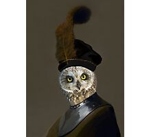 The Owl General - Photographic Composite Photographic Print