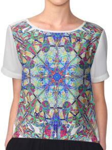 Red White And Blue Marbled Celtic Chiffon Top