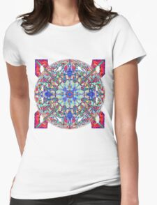 Red White And Blue Marbled Celtic Womens Fitted T-Shirt