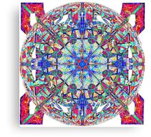 Red White And Blue Marbled Celtic Canvas Print