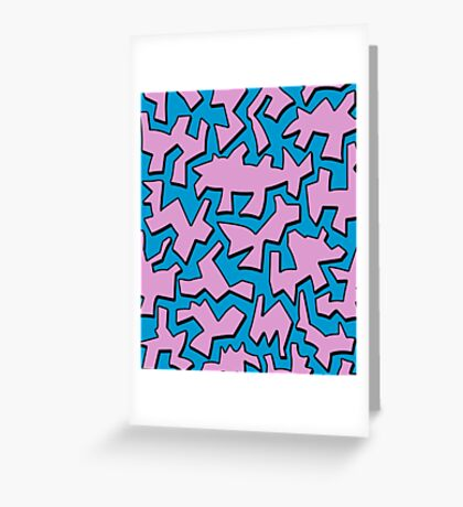 Urban Pink Greeting Card