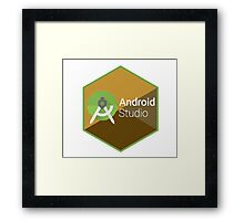 android studio programming  hexagon sticker Framed Print