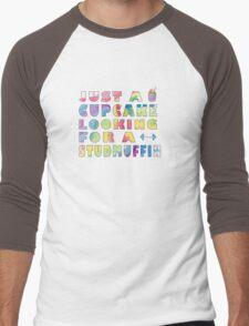 Just A Cupcake Men's Baseball ¾ T-Shirt