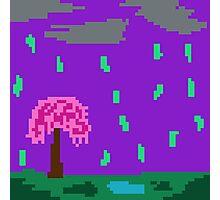Raining Pixel Pickles Photographic Print