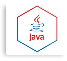 java programming language hexagonal sticker Metal Print