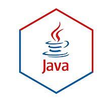 java programming language hexagonal sticker Photographic Print