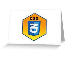 css 3  programming language hexagonal sticker Greeting Card