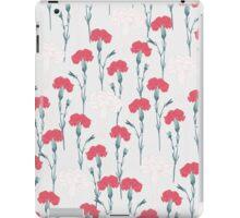pink carnation on pale blue iPad Case/Skin
