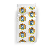 css 3  programming language hexagonal sticker Duvet Cover