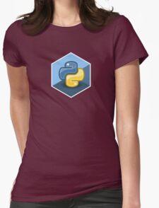 python programming language hexagonal sticker Womens Fitted T-Shirt