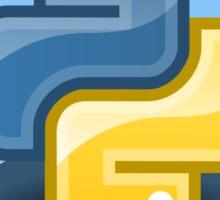 python programming language hexagonal sticker Sticker