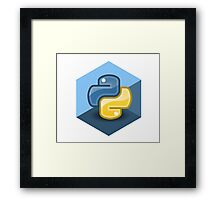 python programming language hexagonal sticker Framed Print