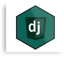 django programming language hexagonal sticker Metal Print