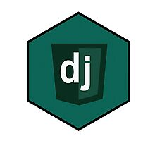 django programming language hexagonal sticker Photographic Print