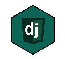 django programming language hexagonal sticker Photographic Print