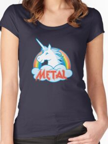 Metal Unicorn Women's Fitted Scoop T-Shirt