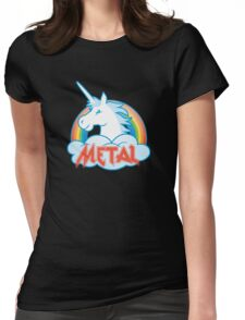 Metal Unicorn Womens Fitted T-Shirt