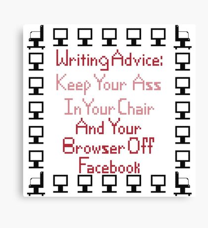 Writing Advice - How To Be a Success Canvas Print