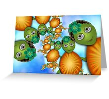 Inner Child - Lady Turtles Going For a Swim Greeting Card