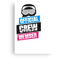 Official Crew Member Design Canvas Print