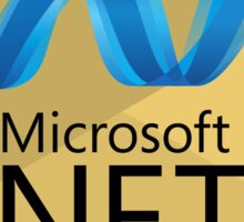 .net net programming language hexagonal sticker Sticker