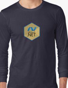 .net net programming language hexagonal sticker Long Sleeve T-Shirt