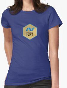 .net net programming language hexagonal sticker Womens Fitted T-Shirt
