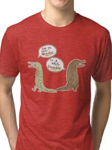 The Alligator and Crocodile Tri-blend T-Shirt