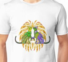 Hearts Of Green And Purple  Unisex T-Shirt