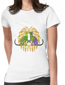 Hearts Of Green And Purple  Womens Fitted T-Shirt