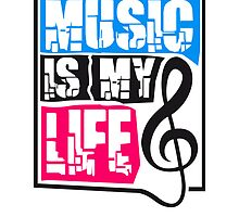 Music is my life Notenschlüssel by Style-O-Mat