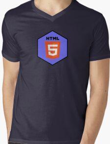 html html5 programming language hexagonal sticker Mens V-Neck T-Shirt