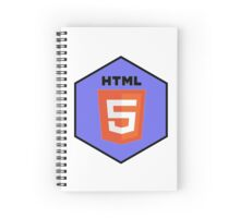 html html5 programming language hexagonal sticker Spiral Notebook