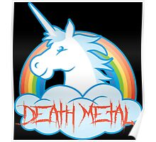 Death Metal Unicorn Poster
