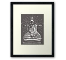 Buddha Light Love Power Framed Print