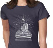 Buddha Light Love Power Womens Fitted T-Shirt