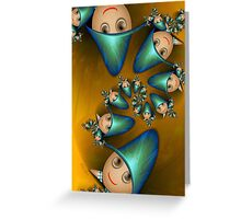 Inner Child - Little Boys Playing Before Bedtime Greeting Card