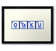 Otaku Periodic Table Shirt Framed Print